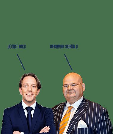 Joost Diks en Bernard Schols